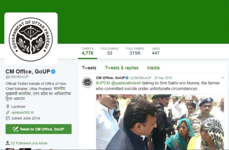 India TV - Tweets have been deleted from official twitter handle of UP CMO
