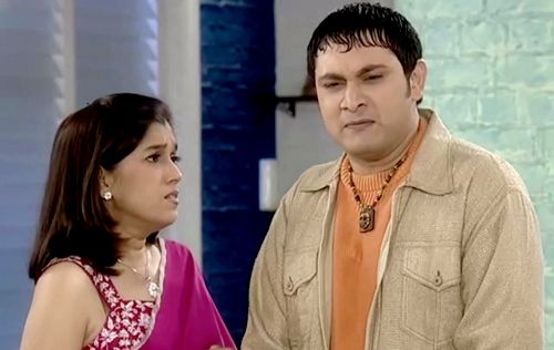 India TV - Maya Sarabhai with Rosesh Sarabhai