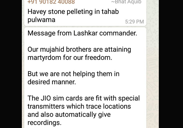 WhatsApp groups with Pak admins entice stone pelting, mislead Kashmir youth
