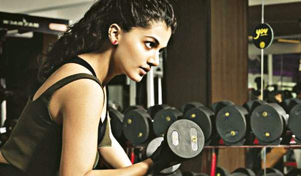 India Tv - Taapsee Pannu training for Naam Shabana