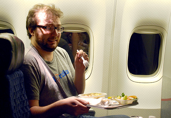 We know that when you fly, your sense of taste changes