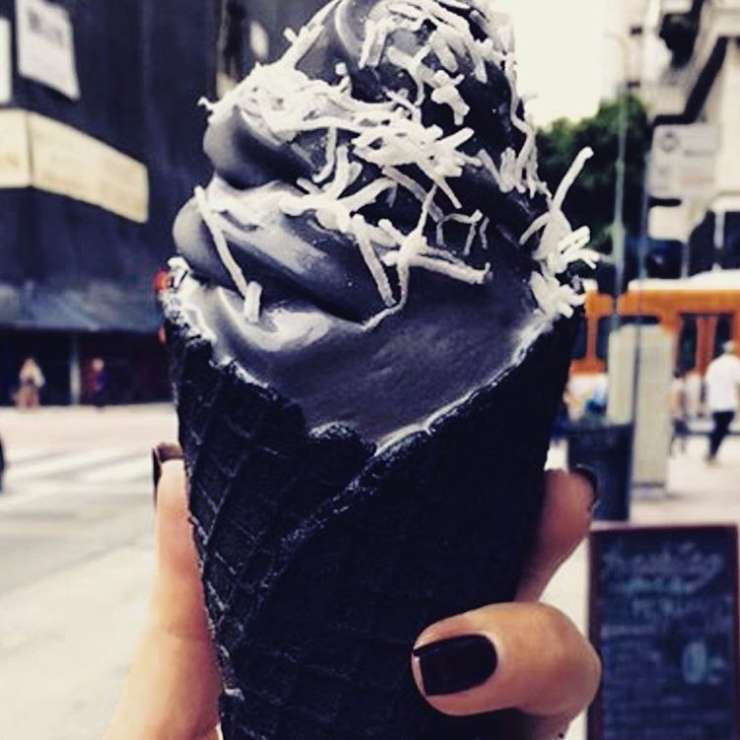 India TV - Black ice cream is a reality now! Check out some interesting pics of this black