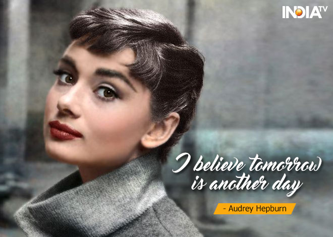 India TV - quotes by Audrey Hepburn
