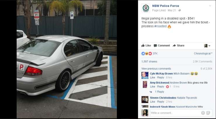 NSW police no parking