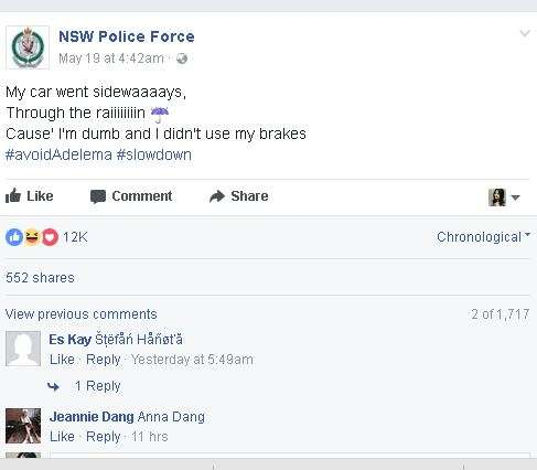 over speeding NSW police