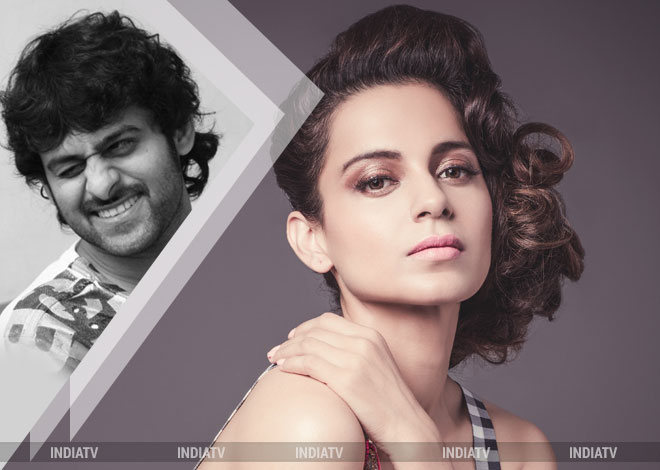 India TV - Prabhas with Kangana Ranaut