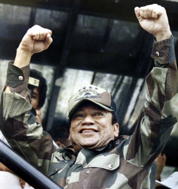 In this May 20, 1988 file photo, Noriega acknowledge as crowd cheers