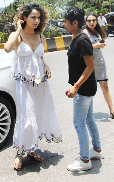 India TV - Kangana Ranaut maxi dress