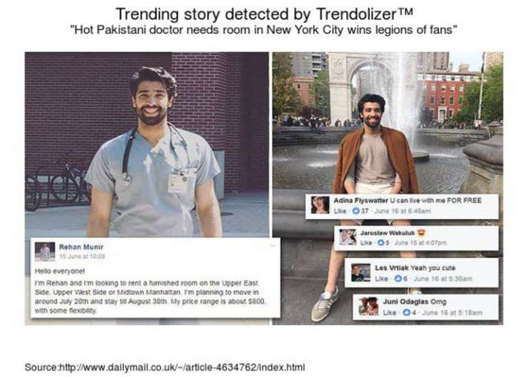 Rehan Munir hit the trends on Twitter as well