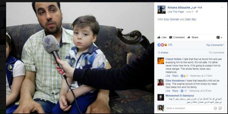 Omraan Daqneesh and his dad spoke to media for first time