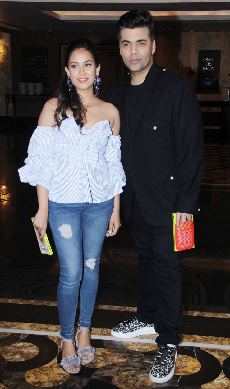 India Tv - Mira and KJo at book launch