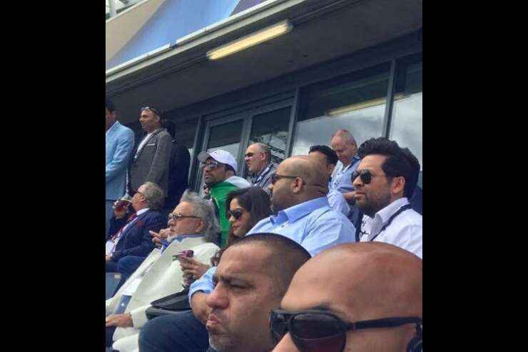 Vijay Mallya spotted at India-Pakistan Champions Trophy match