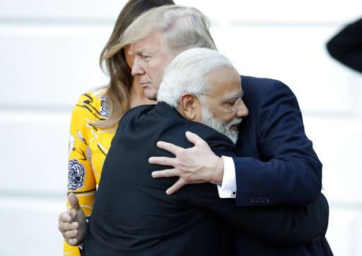 Moments from Trump's meeting with Modi
