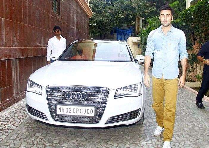 India Tv - Ranbir Kapoor with his White Audi A8