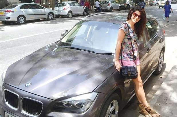 India Tv - Taapsee Pannu with her BMW X1