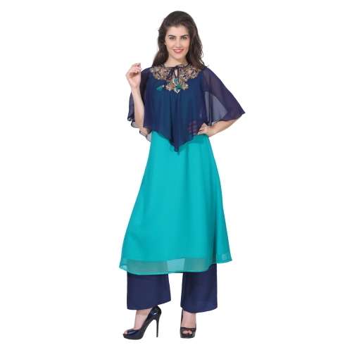 Cape styled kurtis are trendy