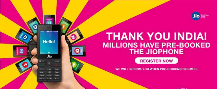JioPhone pre-booking closed for now