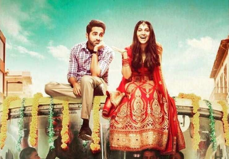 Ayushmann Khurrana and Bhumi Pednekar as Mudit and Sugandha