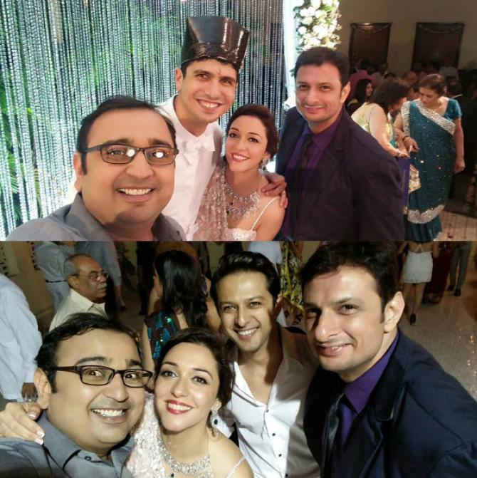 Actors Arbaaz Khan, Sohail Khan, Vatsal Sheth, Rushad Rana and Mehul Nisar made an appearance in the wedding