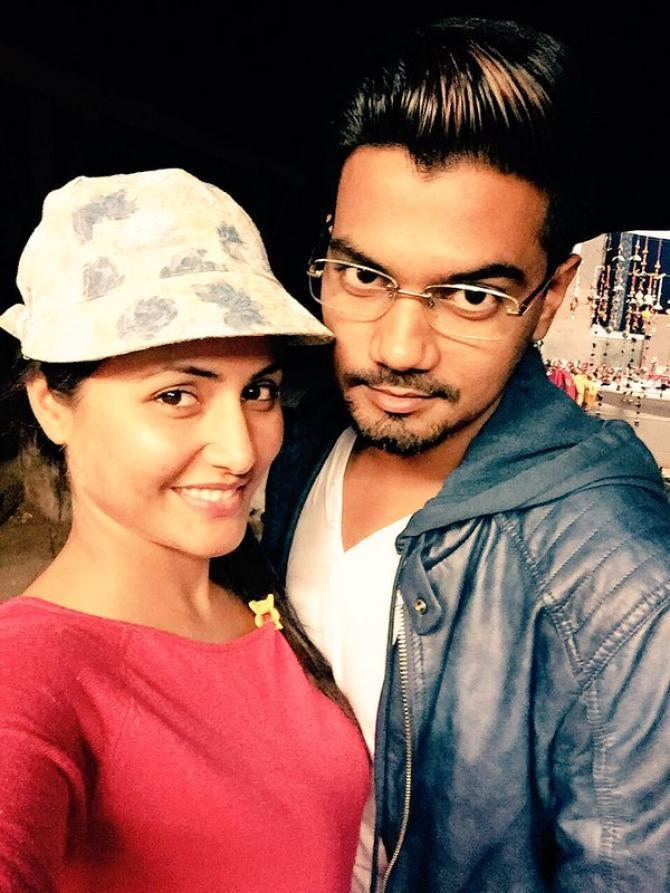 Hina Khan with bf