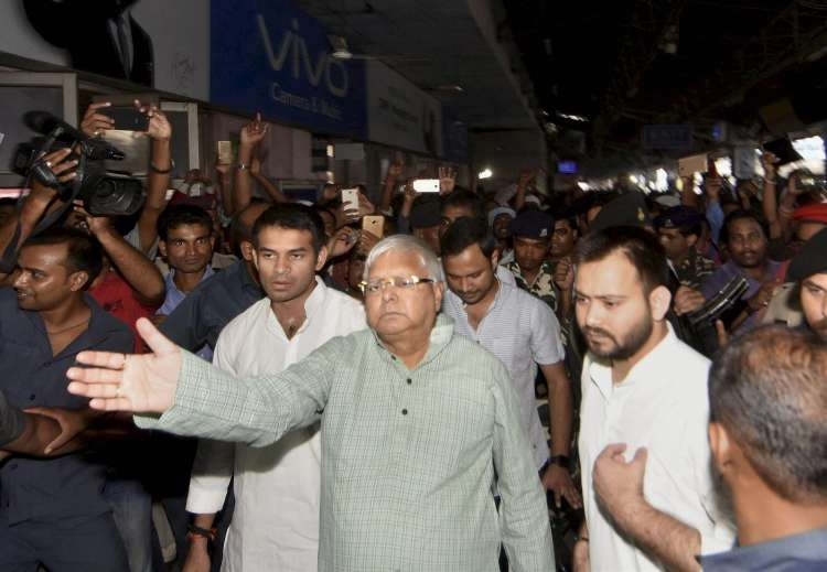 Nitish accountable for Srijan scam, says Lalu