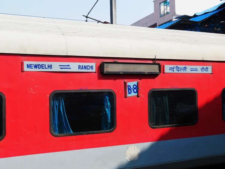 Engine and power auto  of Rajdhani Express derail near Shivaji Bridge, Delhi