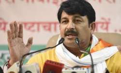 File pic of Delhi BJP president Manoj Tiwari