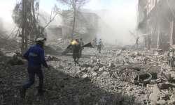 A Syrian monitoring group and paramedics say government