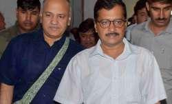 Delhi CM Arvind Kejriwal and Deputy CM Manish Sisodia