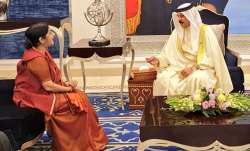 Swaraj calls on Bahrain's King, PM, co-chairs joint