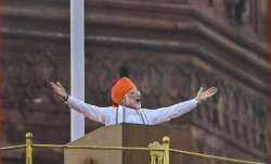 PM Modi addressing nation from Red Fort on 72nd