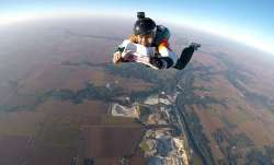 After the successful jump, Mahajan (35) uploaded a video of