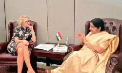 EAM Sushma Swaraj and Foreign Minister of Liechtenstein