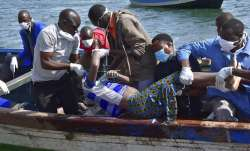 It is believed the ferry was carrying more than 300 people