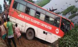 Seven dead, over 20 injured as bus falls into pond near