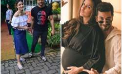 Pics: Soha Ali Khan, Kunal Khemu visit new mommy Neha