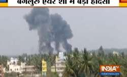 Two militray aircraft crash in Bengaluru
