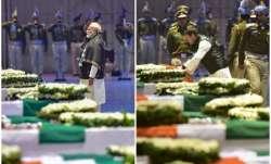 PM Modi, Rahul Gandhi paid tributes to slain CRPF men