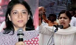 Congress leader Priya Dutt (left) and Bharatiya Janata