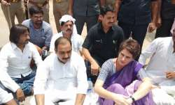 Priyanka Gandhi detained in Mirzapur, was on her way to