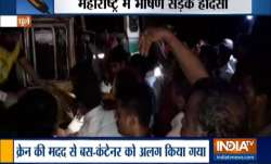 Maharashtra: Container truck collides with state bus in