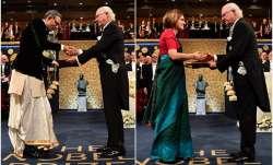 Video: Abhijit Banerjee dons dhoti, receives Nobel Prize