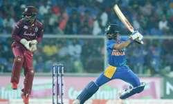 Virat Kohli in action against West Indies in T20I series