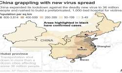 Coronavirus death toll in China rises to 41 as epidemic