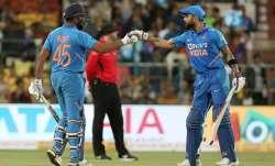 Rohit Sharma and Virat Kohli during 3rd ODI