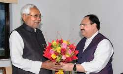 JP Nadda meets Nitish Kumar before concluding Patna tour,