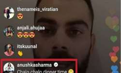 Anushka's message during Kohli's live Instagram chat