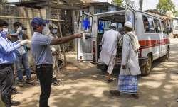 Agartala: An ambulance carries devotees, who had recently