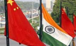 A representational image showing Indian and Chinese flags