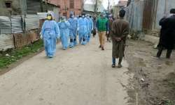 Representational image of health workers in a neighbourhood